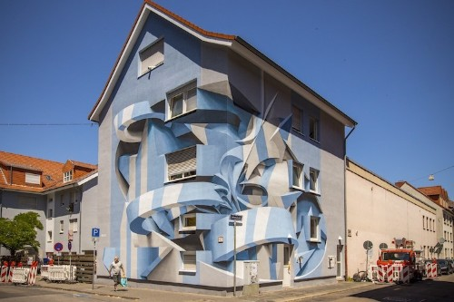 Mind-Bending Optical Illusion Murals Transform Ordinary Buildings