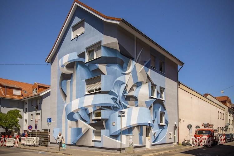 Mind-Bending Optical Illusion Murals Transform Ordinary Buildings