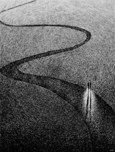 Nicolas Jolly Crafts Impressive New Fingerprint Drawings