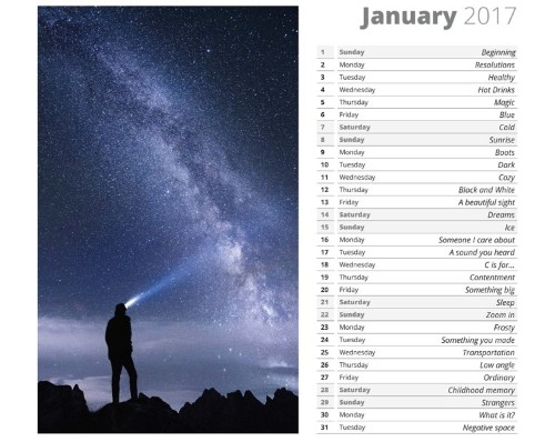 Free 2017 Calendar Has 365 Photo Ideas for Every Day of the Year