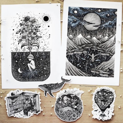 Stunning B&W Illustrations Will Fill Your Soul with the Art of Nature