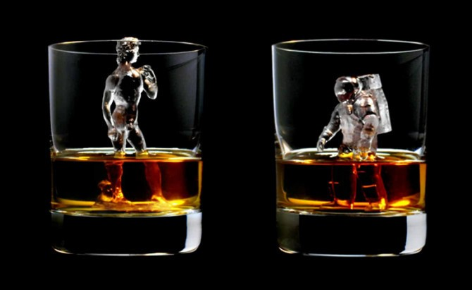 Extremely Detailed 3D-Printed Ice Cube Sculptures