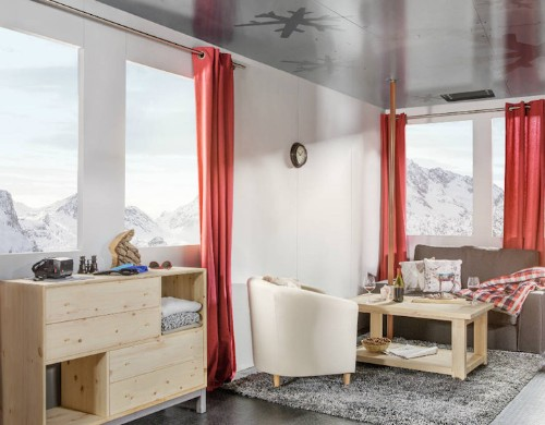 Cable Car Transformed into Luxury Room Suspended Above the French Alps