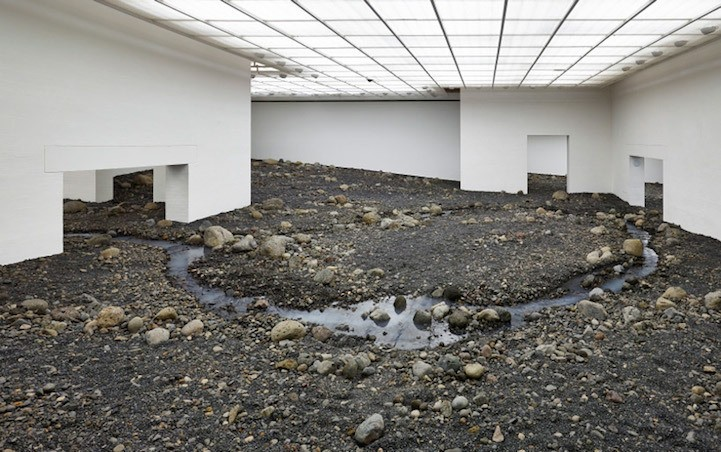 Olafur Eliasson Transforms a Museum Space into a Natural Rugged Terrain