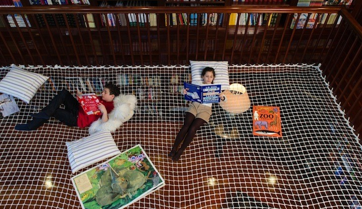 """Reading Net"" Allows Kids to Learn While Floating in Mid-Air"