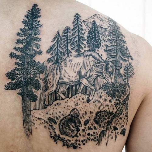 Nature-Inspired Tattoos Combine Vintage-Style Etchings of Fauna and Flora