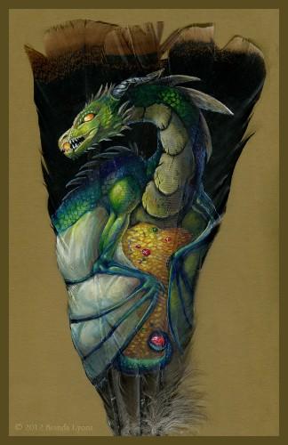 Gorgeous Animal Portraits Painted on Wild Turkey Feathers