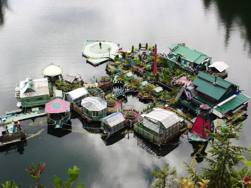 Couple Lives Off-the-Grid in Incredible Floating, Self-Sustainable Home