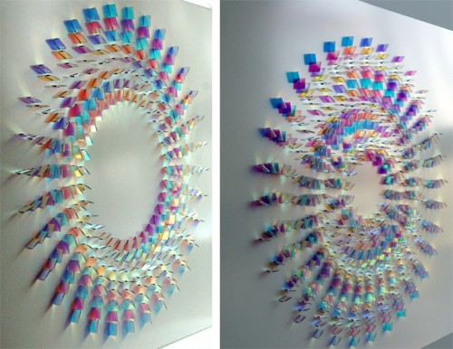 Geometric Arrangements of Colorful Glass Reflect Gorgeous Patterns of Light
