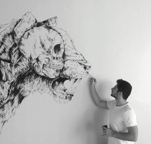 Striking Pen & Ink Drawings Illustrate the Human Connection to Nature