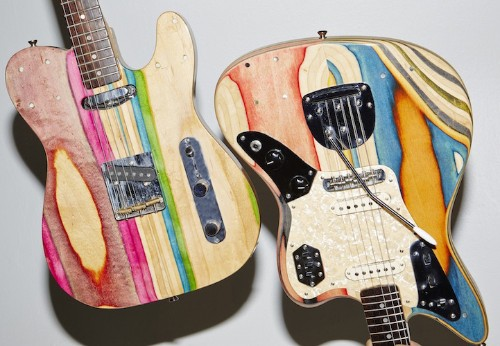 Designer Transforms Discarded Skateboards into One-Of-A-Kind Guitars
