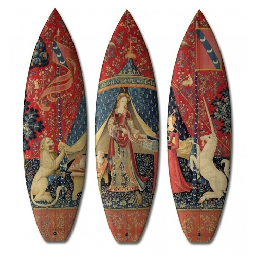 Classical Surfboard Designs Inspired by 15th-Century European Artwork