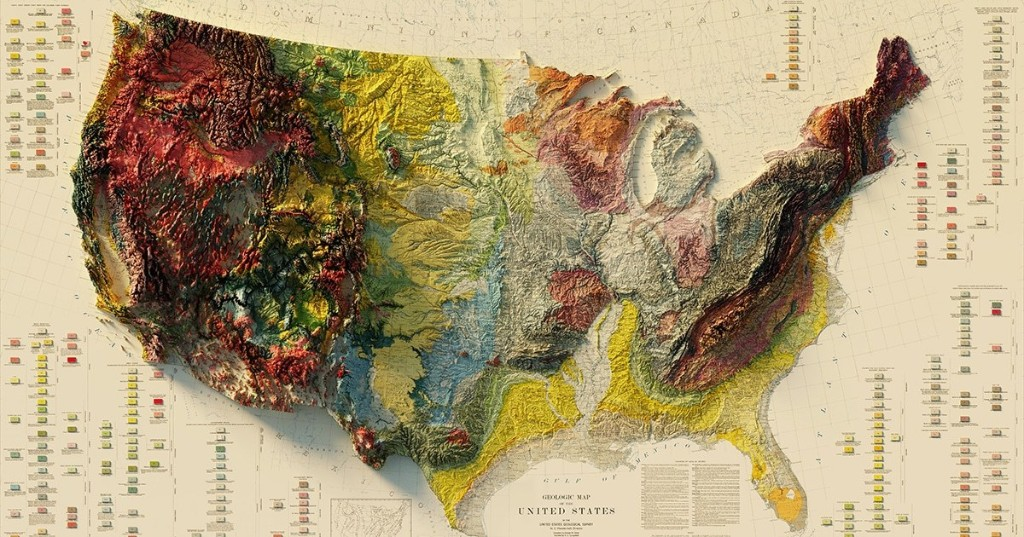 Cartographer Transforms Vintage Maps Into 3D Relief Maps Showing Elevation Around the World