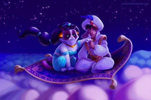 Hilarious Disney Mash-Ups Feature the Popular Grumpy Cat