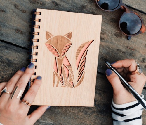 Store Your Hopes and Dreams Inside These Laser-Cut Wood Journals