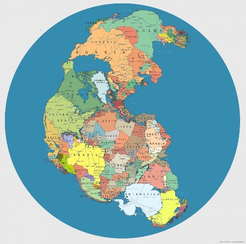 Map Reveals Where Modern Countries Would Be Located If Pangea Still Existed
