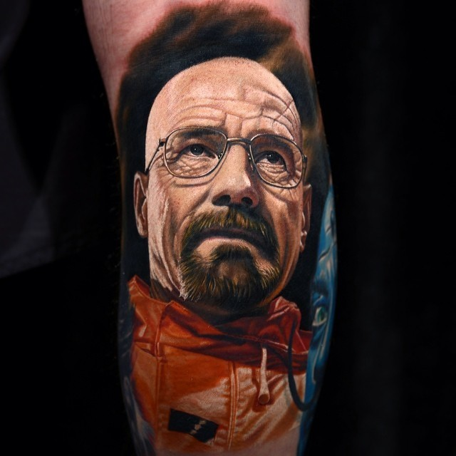 Hyperrealistic Tattoo Portraits of Pop Culture Characters