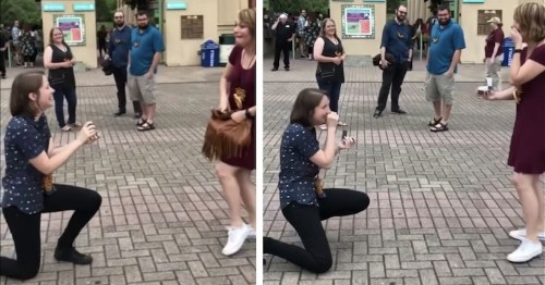 Adorable Couple Unknowingly Surprise Each Other by Proposing at the Same Time