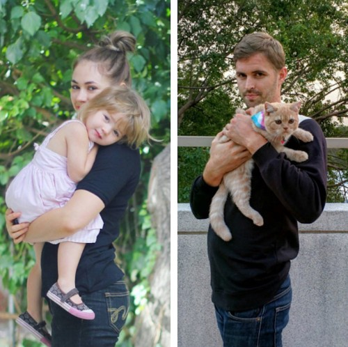 Funny Brother Recreates Twin Sister's Family Photos by Replacing Kids with a Cat