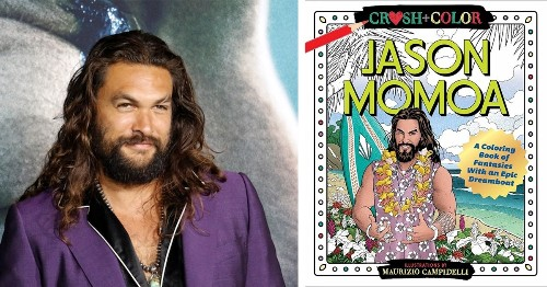 """There's a Jason Momoa Coloring Book for Adults Who Love an """"Epic Dreamboat"""""""