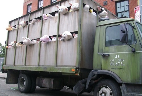 Banksy's Disturbing Stuffed Animals Truck Roams New York