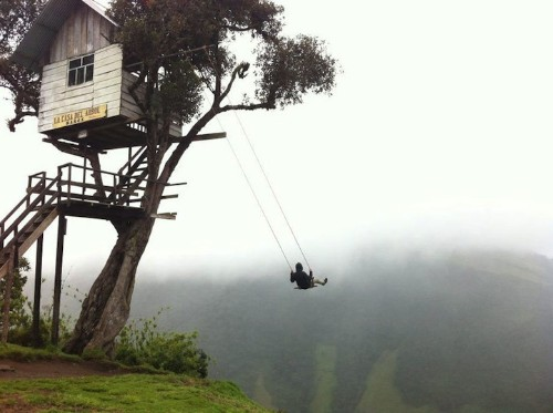 """""""Swing at the End of the World"""" is Located Off a Giant Cliff"""