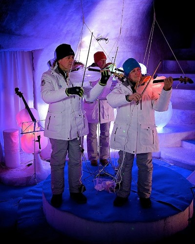 Musicians Play Enchanting Music on Instruments Made of Ice
