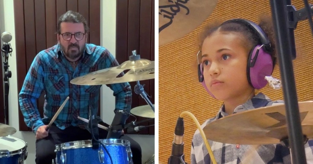 Dave Grohl Writes and Performs Theme Song for 10-Year-Old Drumming Prodigy Nandi Bushell