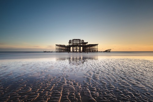 Vibrant Landscapes Show the Gradual Decay of Brighton's West Pier