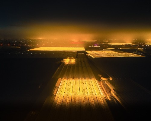 Interview: Photographers Take to the Sky to Capture Holland's LED Greenhouses