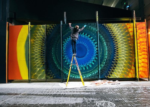 Brightly Colored Murals Mesmerize with Their Hypnotic Abstract Patterns
