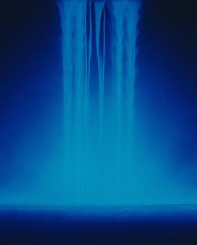 Serene Luminescent Waterfall Paintings by Hiroshi Senju