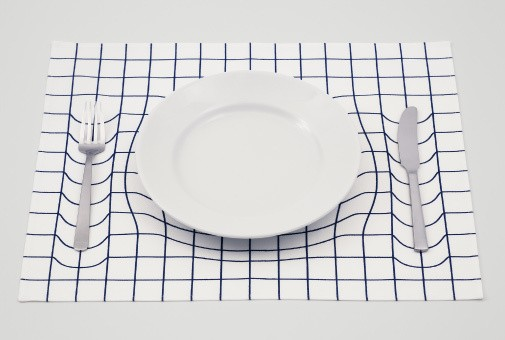 Mind-Bending Placemat Mimics Einstein's Space-Time Fabric Theory