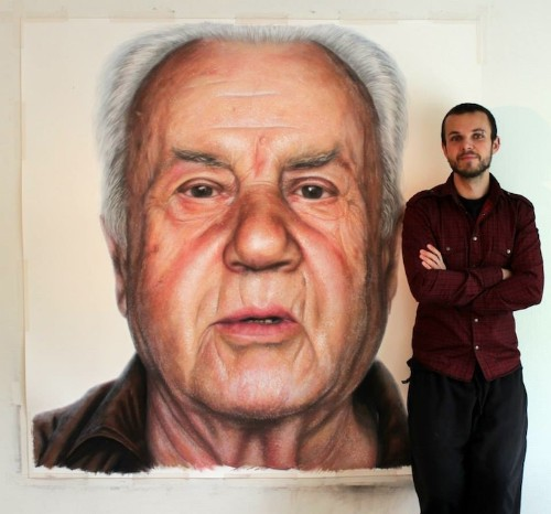 Artist Creates Huge Photorealistic Portraits of His Family