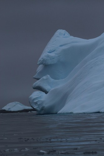 An Iceberg in Antarctica Looks Like a Grumpy Old Man