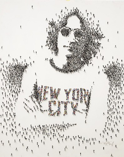 These Portraits of Pop Culture Icons Are Made of Crowds of Tiny People