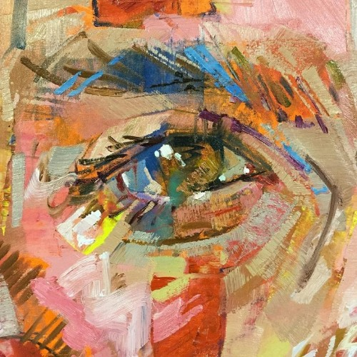 Andrew Salgado's Intense Eye Paintings Extract Order from Chaotic Colors and Forms
