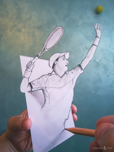 Fantastic 3D Drawings Pop Off the Page by Alessandro Diddi