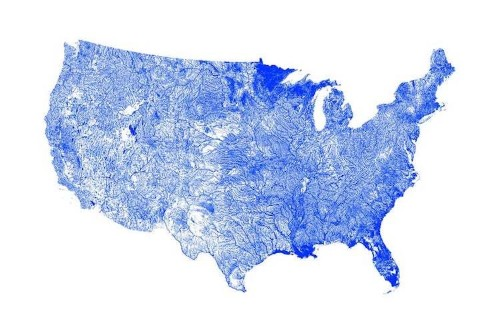 These Amazing Maps Show All the Rivers Running Through the United States
