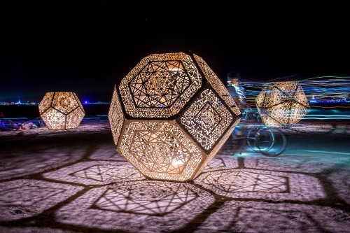 Interview: How Burning Man's Iconic Geometric Light Installations Came About