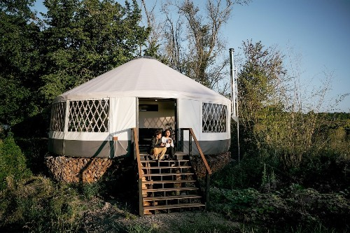 Filmmaker Gives Up Nomadic Lifestyle to Live in a Modern Yurt