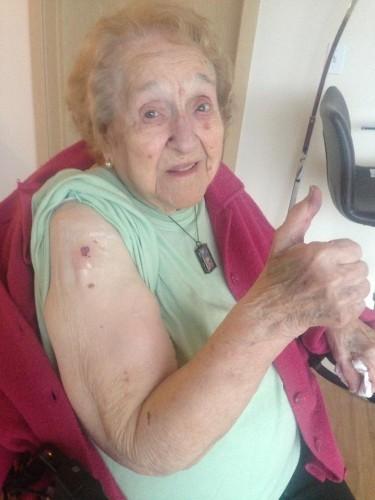 103-Year-Old Grandma Celebrates Birthday with a Tattoo