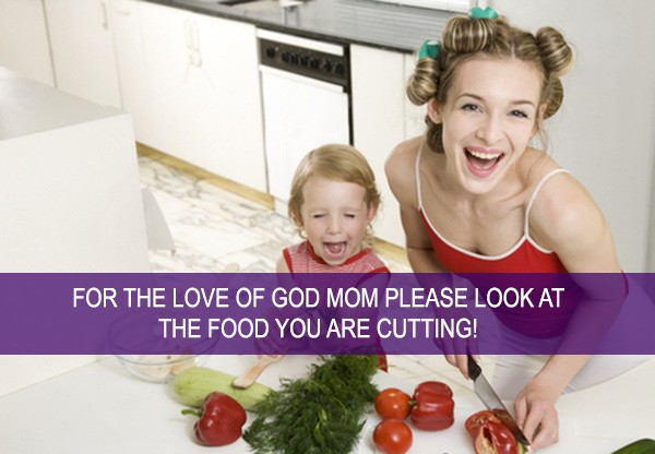 Hilarious Captions by Moms Highlight Absurd Parenting Stock Photos
