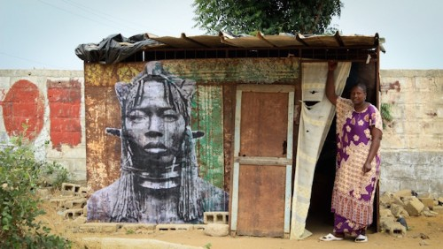 Historical Portraits of African Female Warriors by Street Artist YZ