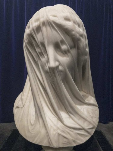 """Exquisite 19th-Century Sculpture Cloaked in a """"Translucent"""" Marble Veil"""