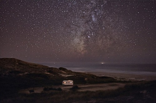 Travelling Man Photographs His Motorhome Along Portugal's Coast