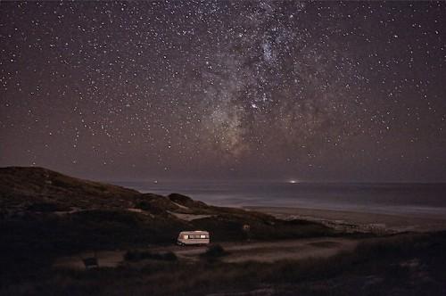 Travelling Man Photographs His Motorhome Along Portugal's Coast