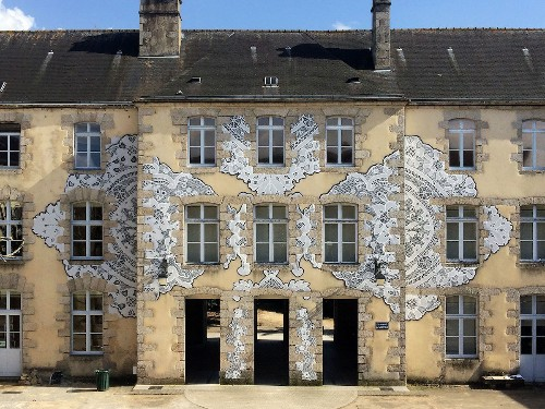 Delicate Polish Lace Patterns Preserved as Street Art Around the World