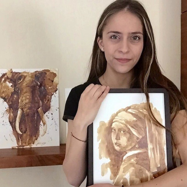 Artist Creates Incredible Watercolor Portraits Using Coffee