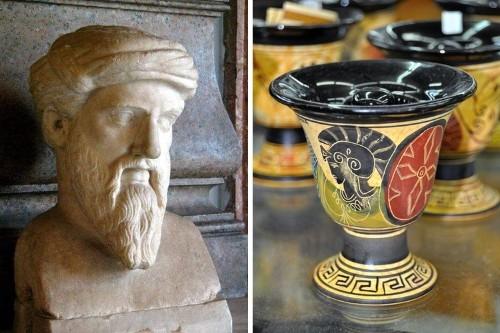 Pitágoras, el matemático griego, también inventó una broma para fiestas